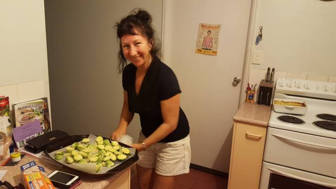 me cooking brussel sprouts